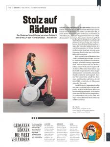 Ein Rollstuhl im Wired Magazin (s. 26)