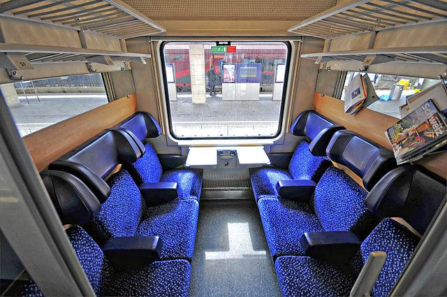 Abteil im Zug
