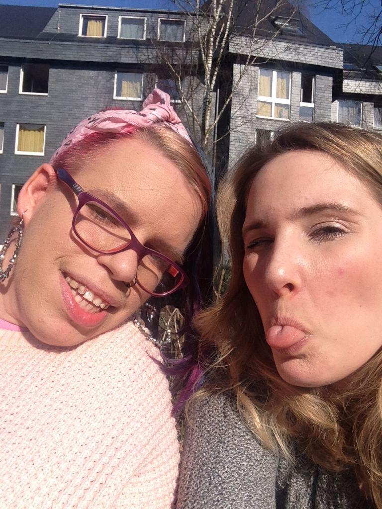 Ein Selfie von mir und Laura