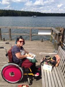 Steg zum See - ideal zum Sonnen und Lesen