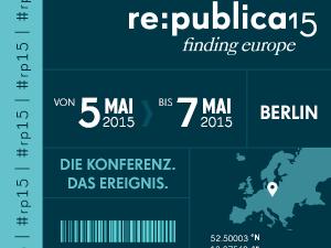 Die re: Publica findet vom 5. bis 7. Mai in Berlin statt.