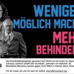 Banner: weniger möglich machen, mehr behindern dazu sind Schäuble und Nahles zu sehen