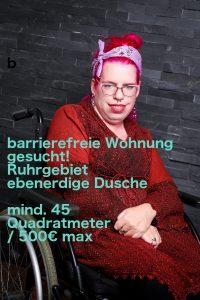 barrierefreie Wohnung gesucht! Ruhrgebiet ebenerdige Dusche mind. 45 Quadratmeter / 500€ max